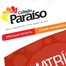 Website Colégio Paraíso
